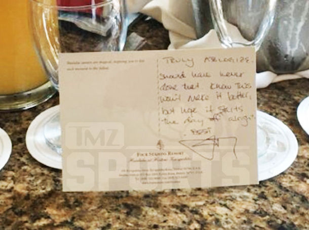 johnny manziel apology note hawaii wedding fight closeup