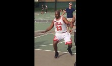 Guy Shows Up To Play Pick-Up Game in Full Michael Jordan Uniform (Video)