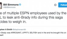 Bill Simmons Accuses Stephen A. Smith of Leaking Anti-Tom Brady News Purposely for the NFL