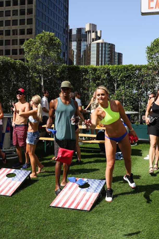 lindsey vonn espys pool party bean bags
