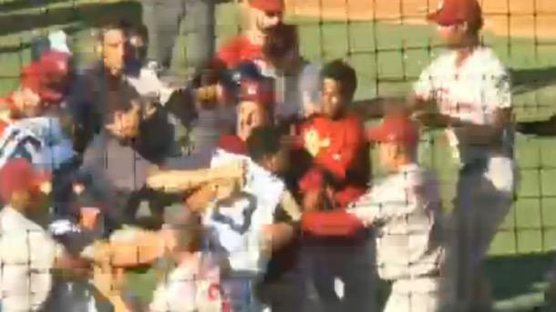 minor league baseball brawl rangers astros affiliates