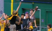 Pirates Fan Makes Great Leaping Catch on Foul Ball, Totally Shows Up Blue Jays Fan Who Made Sweet Diving Catch on Home Run (Video)