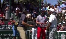 Steph Curry Mocks His Finals Tantrum, Throws MouthGuard At Fans During Golf Tournament (Video)