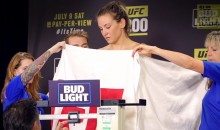 Miesha Tate Barely Makes Weight After Getting Naked At Weigh-Ins (Video)