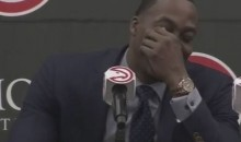 Dwight Howard Cries At Press Conference Until He Realizes He'll Be Meme'd Later (Video)