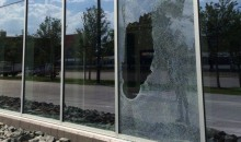 Somebody Busted The Window of Minnesota Vikings New $1.1 Billion Stadium