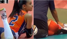 Meet The Lucky Guy Who Gets to 'Stretch Out' Olympic Volleyball Player Winifer Fernandez (PICs + Video)