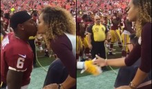 Redskins WR TJ Thorpe & GF Kayla Cason Have Epic Pregame Kiss & Handshake Ritual (Video)