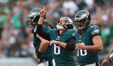 Eagles Kicker Gets Hit By Wayward Punt During Pregame, Gets a Damn Concussion