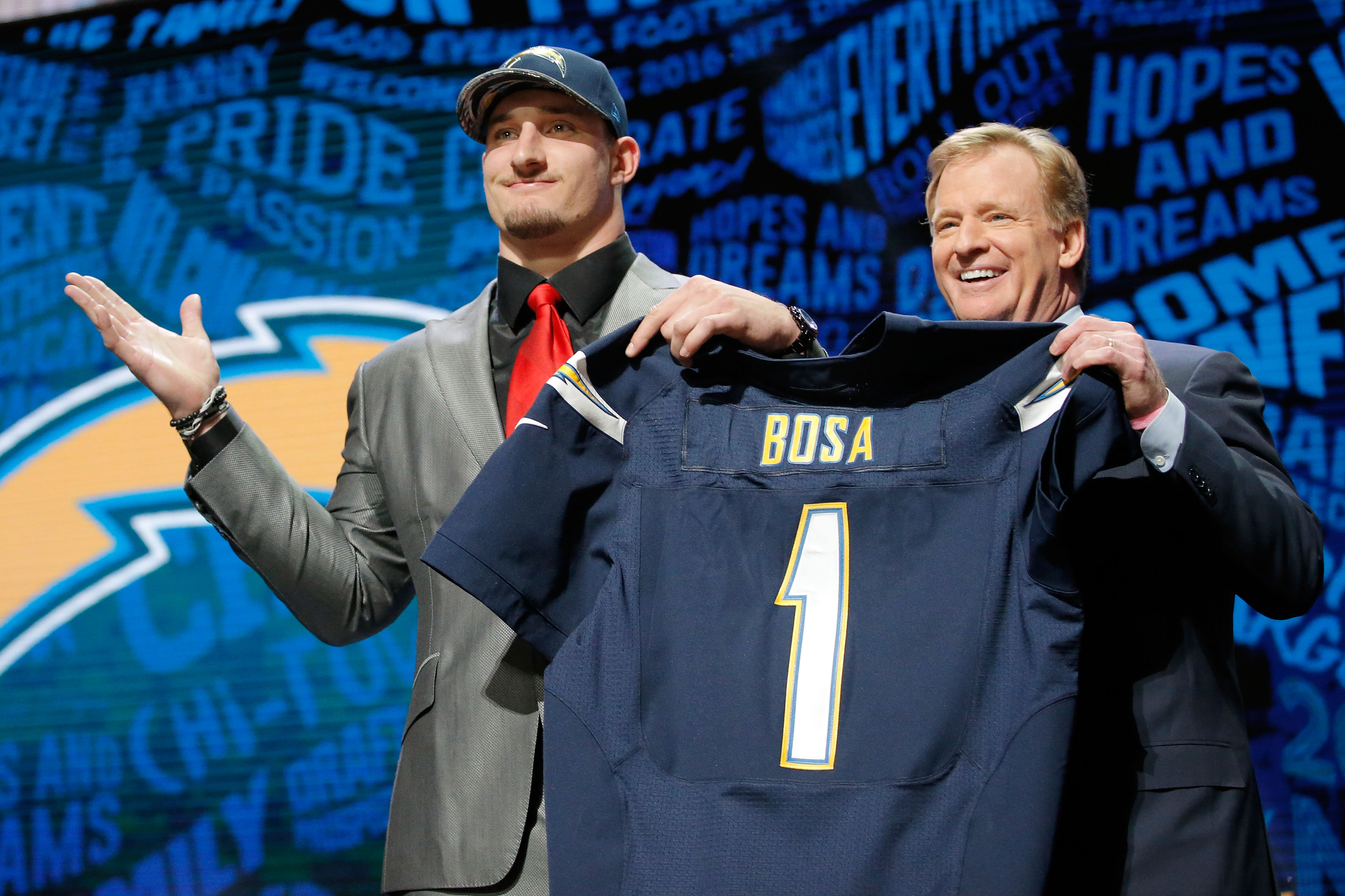 Joey Bosa's mom: 'Wish we pulled an Eli Manning on draft day'