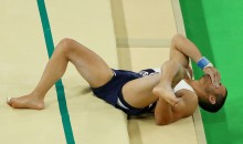 French Gymnast That Snapped His Leg Was Dropped While on Stretcher (Video)