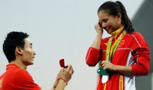 Chinese Diver Gets Silver Medal AND Marriage Proposal at the Podium (Pics)