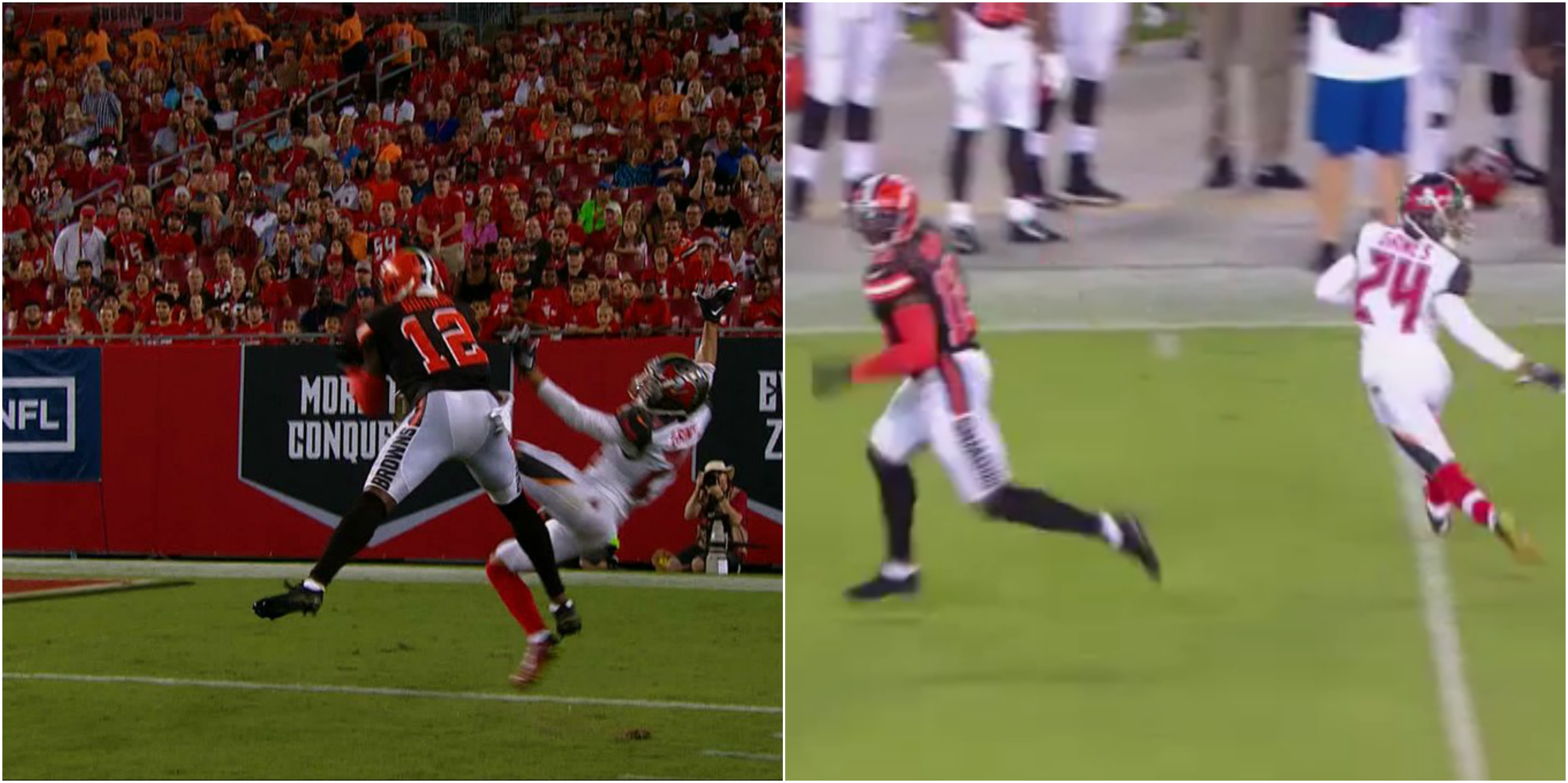 Browns WR Josh Gordon is Smoking Brent Grimes on The Field Video