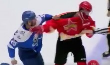 KHL Goon Damir Ryspayev Tries to Fight Every Player on the Other Team in the Span of One Minute (Video)