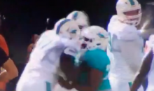 Laremy Tunsil Gets Into Fight With Chris McCain During Dolphins Training Camp (Video)