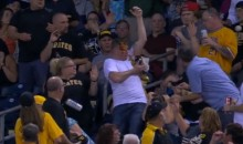 Pirates Fan Misses Foul Ball, Gets Face Full of Nachos (Video)