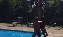 James Harrison Absolutely Launches His Kids into a Swimming Pool (Video)