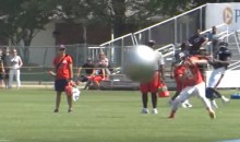 Ensuring the Least Amount of Contact Possible, the Bears Toss Yoga Balls at Their QBs (Video)