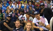 USA Basketball in Attendance to Cheer on Michael Phelps (Pics + Vids)