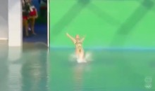 Russian Diver Earns Score of ZERO After Back-Flopping Into Pool (Video)