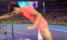 Japanese Pole Vaulter Loses By a Penis…Seriously (Video)