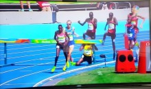 Ugandan Runner Smashes Face-First into a Steeplechase Hurdle (Video)