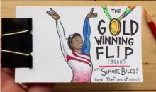 Simone Biles' Amazing Floor Routine Gets Remade as a Flip Book (Video)