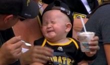 Watch an Adorable Baby Get Brain Freeze During a Pirates Game! (Video)