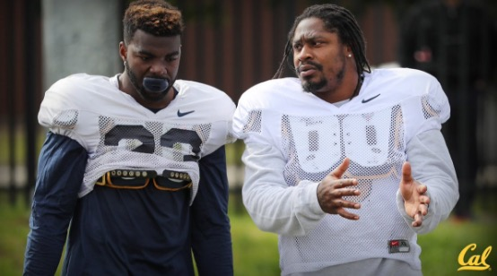 Former Seahawk Marshawn Lynch having fun down under with Cal Bears