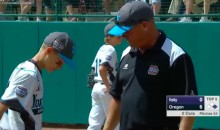 LLWS Coach Visits the Mound During a Game to Tell His Son He Loves Him (Video)