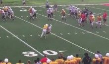 This MONSTER Hit Between HS Football Teams Took Place During a Damn Scrimmage (Video)