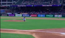 Team USA Gymnast Ragan Smith Brought Out a Very Acrobatic First Pitch to a Rangers Game (Video)