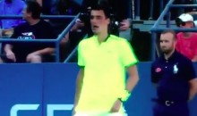 Bernard Tomic Blasted a US Open Fan with Some Profane Language (Video)