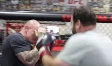 Watch Regular People Have a Really Hard Time Punching a UFC Fighter in the Face (Video)