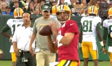 "Aaron Rodgers Shows Off His Pinpoint Accuracy on ""Family Night"" at Packers Training Camp (Video)"