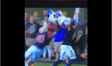 Bishop Gorman QB Tries to Hurdle 3 Players; Fails Miserably (Video)