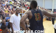 Fan Yells at James Harden For Flopping Too Much at Drew League Game (Video)