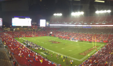 Looks Like About 89 Fans Showed up to Watch The Buccaneers Take on The Redskins