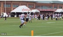 Matt Ryan Intercepted at Training Camp…By Offensive Coordinator Kyle Shanahan (Video)