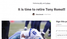 Fan Creates Petition to Force Romo to Retire Because He Sucks & He's Injury Prone
