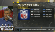 Colin Cowherd Lists His 8 Top-Tier QB's in The League; Everybody Else is Tier 2 (Video)