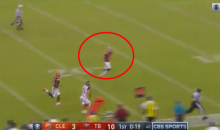 Browns Punter Andy Lee Makes Business Decision & Refuses to Tackle Punt Returner (Video)