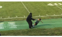 Guy Dressed As Harambe Attends Cincy Football Game, Starts Dragging & Chasing Kids  (Video)