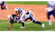 Titans LB Sean Spence Baptizes Raiders RB, Forcing The Fumble & TD (Video)