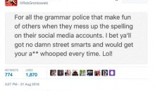 Patriots TE Rob Gronkowski Does Not Like 'Grammar Police'