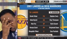First Take: Max Kellerman Thinks The 2016 Warriors Would Beat The Kobe/Shaq Lakers (Video)