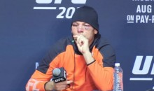 Nate Diaz Smokes Weed Vape Pen At UFC 202 Post-Fight Press Conference (Video)