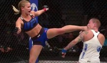 Paige VanZant KO's Her Opponent With Flying 'Karate Kid' Kick (Video)