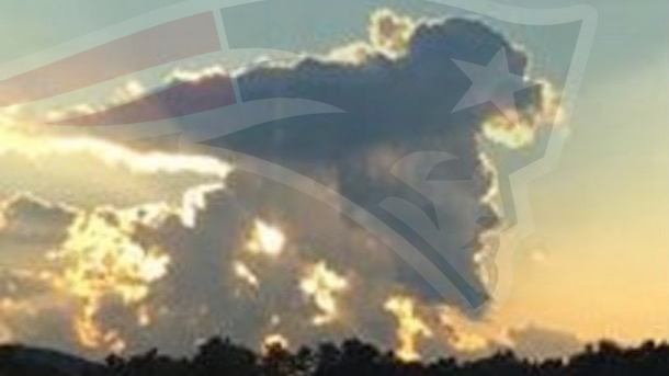 patriots cloud looks like patriots logo superimposed