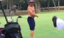 Idiot Golf Bro Runs Over His Buddy with the Cart (Video)